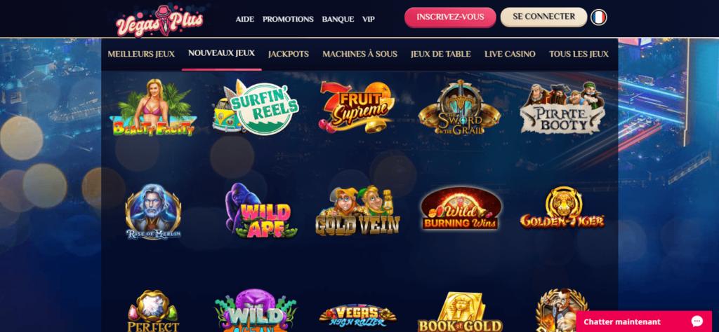 vegas plus casino jeux