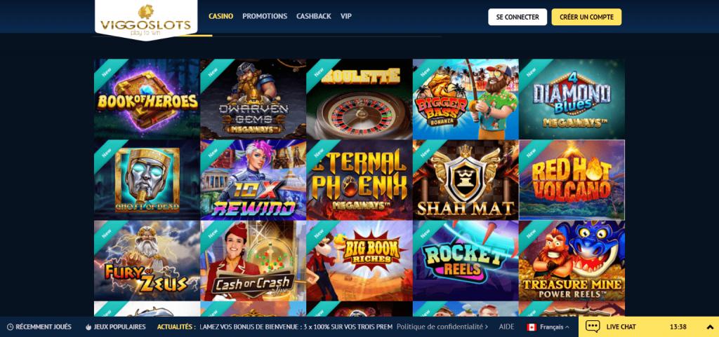 Viggoslots casino jeux